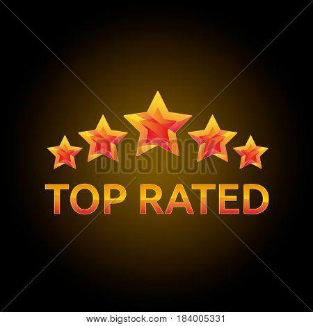 Star Top Rated Circle