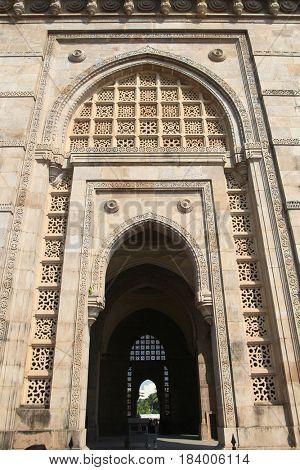 Gate way of India arch in Mumbai, India