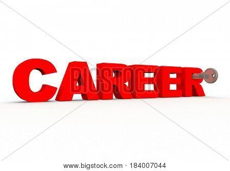 3d render of the word career