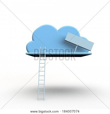 3d render on white background as a metahot for success or challenge or the cloud