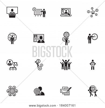 Flat Design Icons Set. Business and Finance.