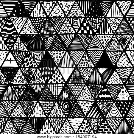 Seamless Pattern Of Equilateral Triangles