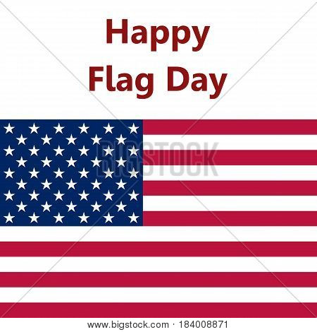 Flag United States, vector illustration logo white