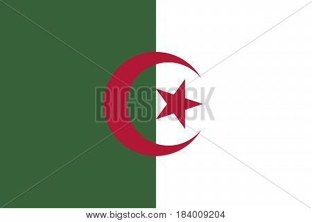 Illustration of the national flag of Algeria