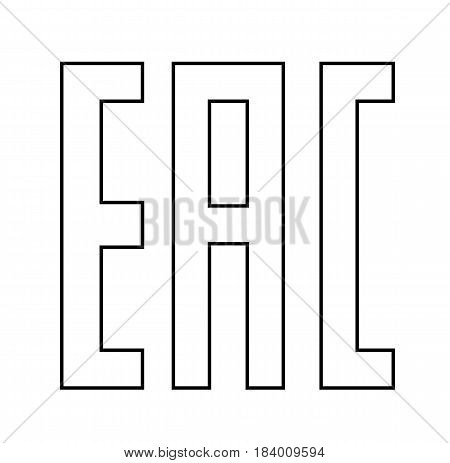 EAC EurAsian Conformity mark Vector isolated mark