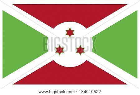 Illustration of the national flag of Burundi.