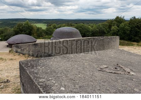 Observation post on Fort Douaumont near Verdun with a view at the battlefield of First World War One poster