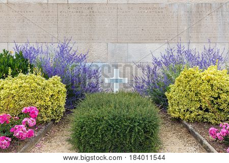VERDUN FRANCE - AUGUST 19 2016: Cemetery for French First World War general who died at Battle of Verdun