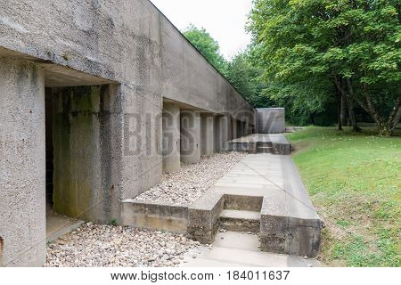 First World War One memorial Trench of Bayonets at Douaumont France