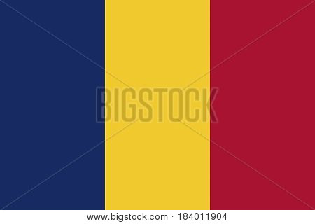 Illustration of the national flag of Chad