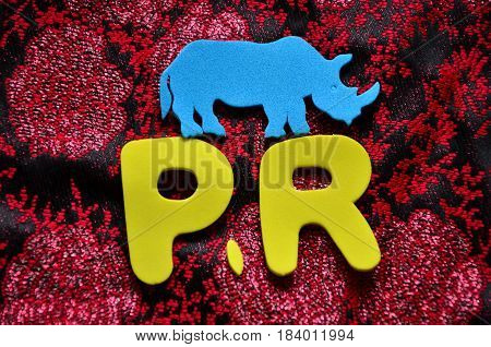 pr  word on a  abstract colorful background