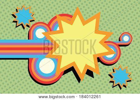 pop art swirls abstract. Comic cartoon style illustration
