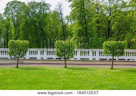 Picturesque Kadriorg park in spring time Tallinn Estonia
