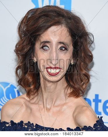 LOS ANGELES - APR 18:  Lizzie Velasquez arrives for the WE Day California 2017 on April 27, 2017 in Inglewood, CA