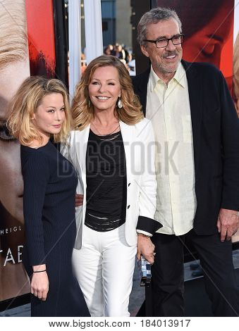 LOS ANGELES - APR 18:  Cheryl Ladd, Jordan Ladd and Brian Russell arrives for the