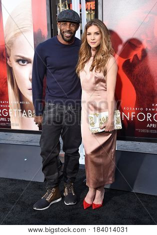 LOS ANGELES - APR 18:  Allison Holker & Stephen 'twitch' Boss arrives for the