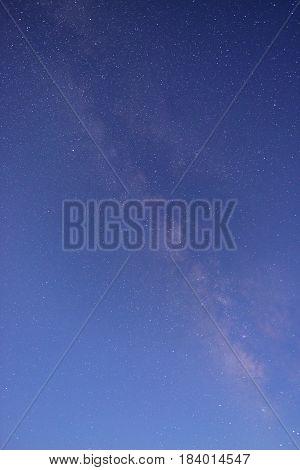 Long Exposure Shot Of The Night Sky
