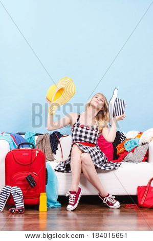 Woman Getting Ready For Travel