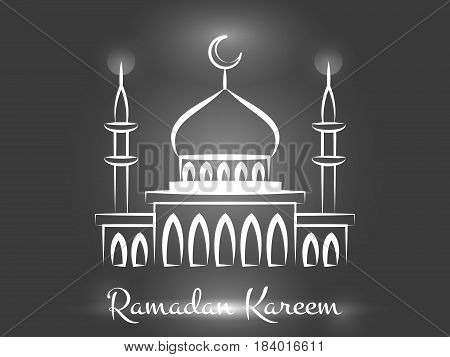 Ramadan Kareem background design. Vector arabic islamic mosque background