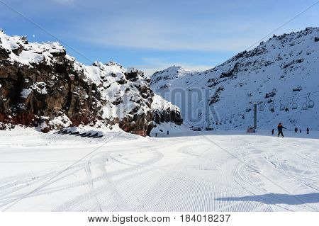 Ruapehu ski field, New Zealand