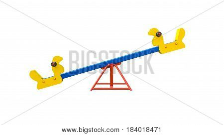 Seesaw in shape of birds for playground. Isolated on white background.