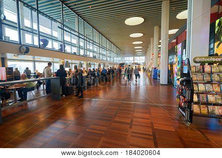 COPENHAGEN, DENMARK  - CIRCA SEPTEMBER, 2014: inside Copenhagen Airport, Kastrup.