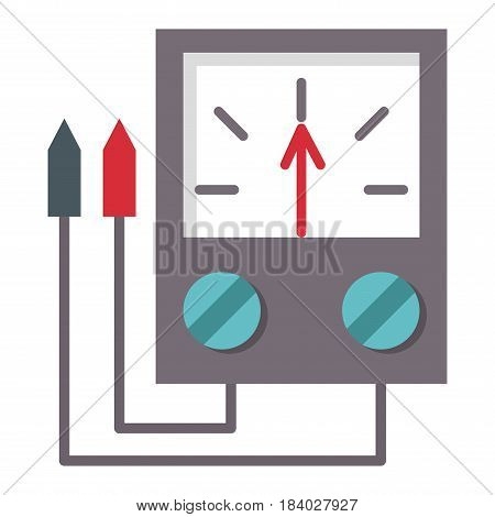 Multimeter electrical measurement technology equipment tool voltmeter electronic test vector illustration. Indication voltage ampere current display instrument. poster