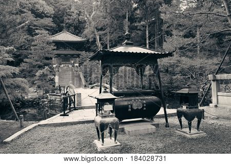 Shrine with historical building in Kyoto, Japan.