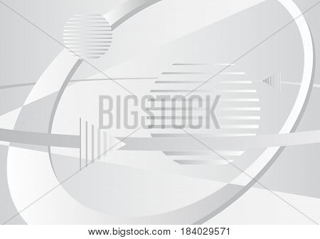 Space technology business abstract background template. Vector illustration.