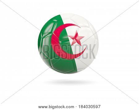Football With Flag Of Algeria
