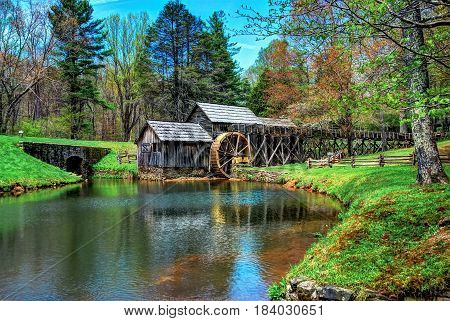 The Maybry Grist Mill located in Virginia.