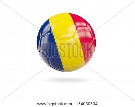 Football With Flag Of Chad