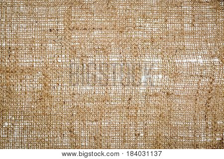 burlap canvas background (bottom side of primed and stretched art canvas)