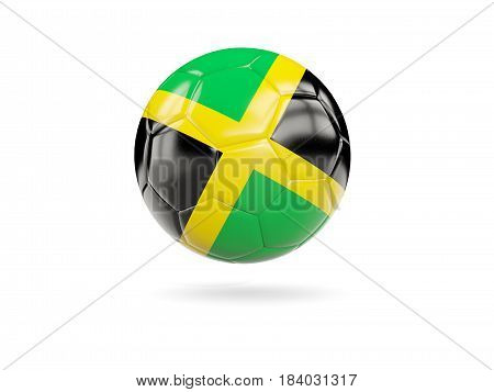 Football With Flag Of Jamaica