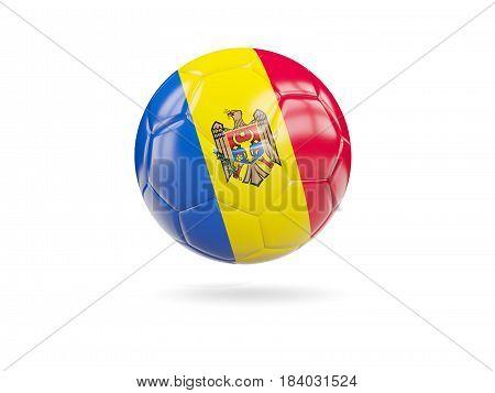 Football With Flag Of Moldova