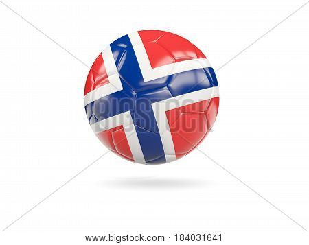 Football With Flag Of Norway