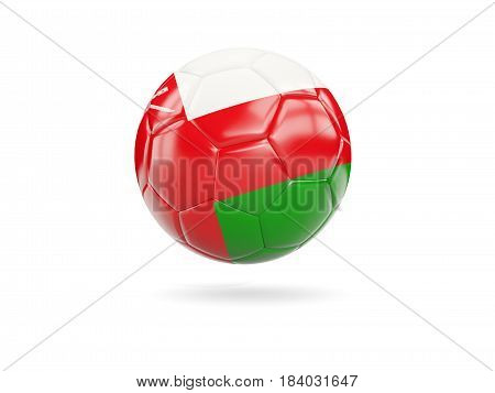 Football With Flag Of Oman