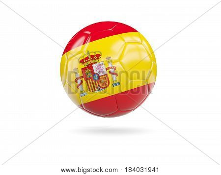 Football With Flag Of Spain