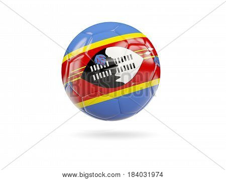 Football With Flag Of Swaziland