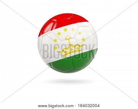 Football With Flag Of Tajikistan