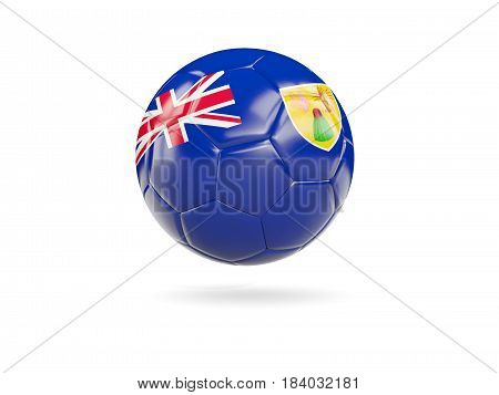 Football With Flag Of Turks And Caicos Islands
