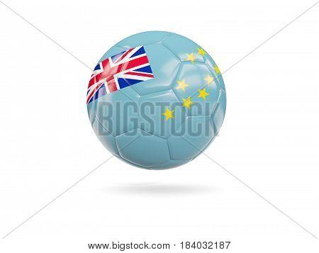 Football With Flag Of Tuvalu
