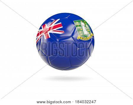 Football With Flag Of Virgin Islands British
