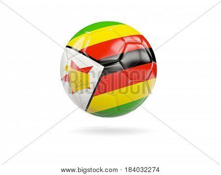 Football With Flag Of Zimbabwe