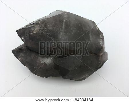 large black triple spire quartz crystal formation