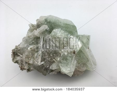 large square clear fluorite natural geometric formation