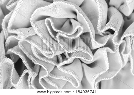 Fabric Texture With Frills, Pleated Fabric Pattern, Seamless Texture For Background And