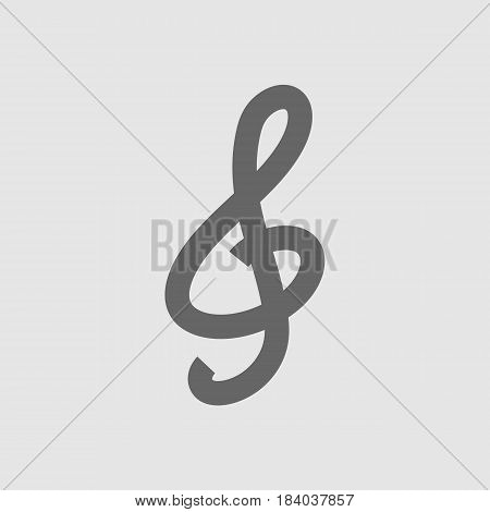 G clef vector icon eps 10. Music key symbol.