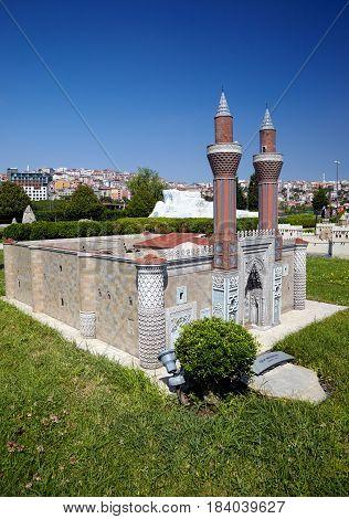 Miniaturk, Istanbul. Gokmedrese (sky Madrasah)  In Sivas, Turkey.