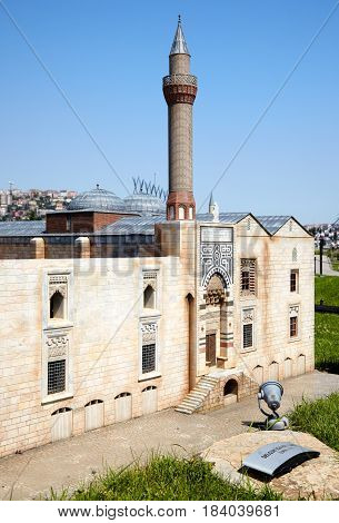 Miniaturk, Istanbul. A Scale Copy Of  Isabey Mosque In Izmir, Turkey